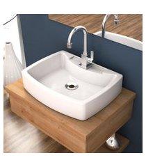cuba de apoio para banheiro compace aria rt50w retangular branca