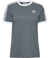 adicolor classics 3-stripes t-shirt w t-shirts & tops short-sleeved grå adidas originals
