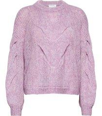 antico cable sweater stickad tröja lila designers, remix