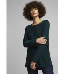 sweater texturado verde esprit