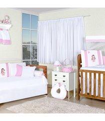 quarto completo padroeira baby boneca fuxiquinha rosa