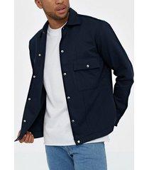 selected homme slhloosebenji shirt jacket ls b byxor mörk blå