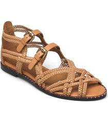 katie shoes summer shoes flat sandals beige see by chloé