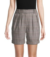 frame women's high-waisted relaxed short - grey multi - size 4