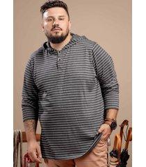 camiseta svk plus size glamping- preto - preto - masculino - dafiti