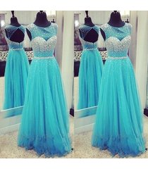 ice blue long prom dresses,cap sleeve evening dresses,party prom dress