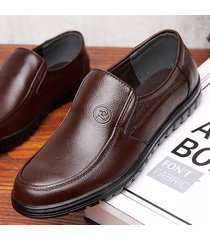 sottoveste morbide da uomo pure color slip on casual driving leather shoes