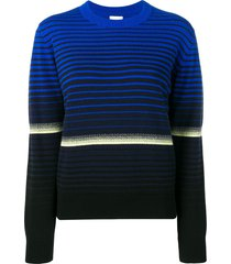 barrie striped fitted sweater - blue