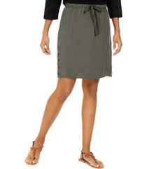 style & co drawstring tencel skort, created for macy's