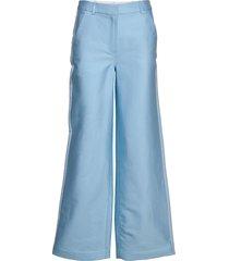 flared suiting pants vida byxor blå designers, remix