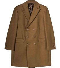 fendi camel coat teen