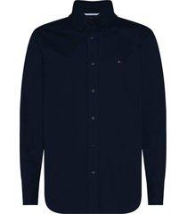 overhemd fine twill donkerblauw