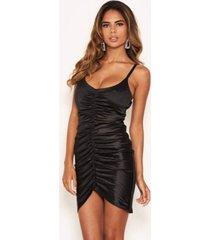 ax paris women's ruched front satin dress
