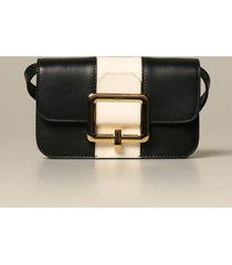 bally belt bag janelle bally leather bag / pouch with buckle