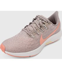 tenis running palo rosa-coral nike air zoom pegasus 36,