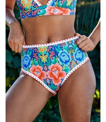 frida floral high waist tummy control bikini bottom