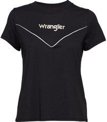80´s tee t-shirts & tops short-sleeved svart wrangler