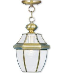 livex monterey 1-light outdoor chain lantern