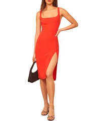 women's reformation norton sheath dress, size 0 - red