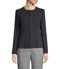 canosa fitted stretch wool jacket
