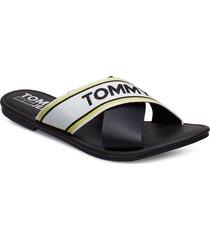 susy 8c shoes summer shoes flat sandals svart tommy hilfiger