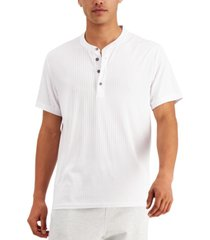 inc international concepts men's short-sleeve henley sweater, created for macy's