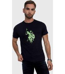 camiseta azul oscuro-verde us polo assn