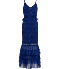 abito lungo con pizzo (blu) - bodyflirt boutique