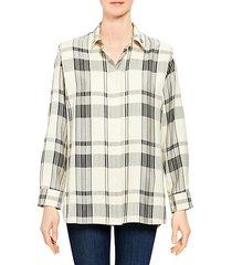 plaid collared shirt