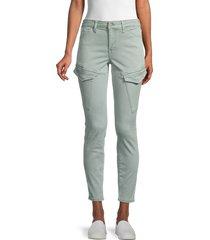 true religion women's halle cargo skinny pants - desert - size 32 (10-12)