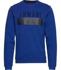 ax man sweatshirt sweat-shirt trui blauw armani exchange