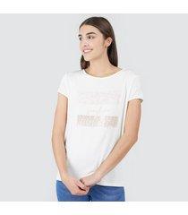 camiseta mujer lentejuelas sunshine