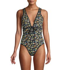 sabina floral one-piece swimsuit