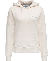 axel arigato organic cotton london ivory colored hoodie