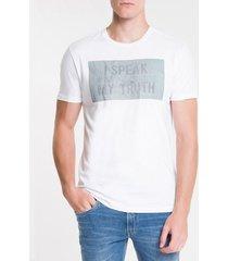 camiseta masculina forest glitch preta calvin klein jeans - pp