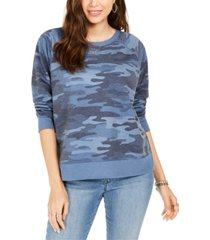 style & co camo sweatshirt, created for macy's