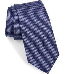 men's ted baker london geometric silk tie, size regular - purple