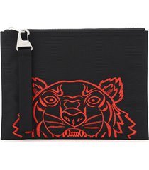 kenzo kampus pouch with tiger embroidery