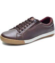 sapatênis masculino over boots halff couro soft marron