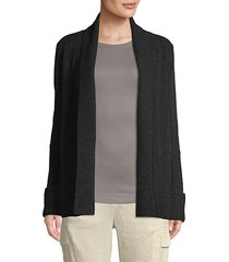 open-front wool & cashmere blend cardigan