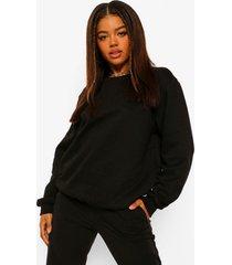 basic oversized sweater, black