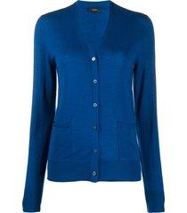 joseph lightweight cardigan - blue