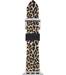 kate spade new york women's leopard silicone apple watch strap