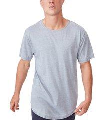 men's longline scoop burnout t-shirt