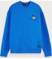 scotch & soda embroidered detail sweatshirt