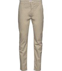 chuck regular chino poplin pant - g chino broek beige knowledge cotton apparel