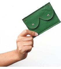 mini portfel zielony róż