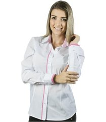 camisa pimenta rosada angelina