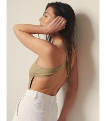 josefine hj x na-kd body med korsad rygg - green
