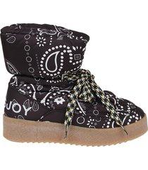 khrisjoy puff bandana boots
